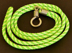 Lime Green and Yellow Braided Nylon Thai Amulet Necklace
