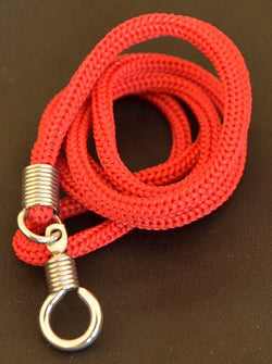 Red Braided Nylon Thai Amulet Necklace
