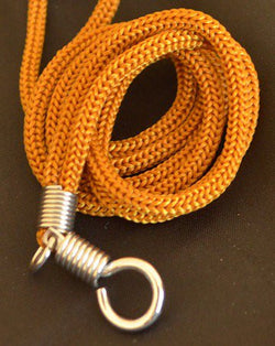 Tan Braided Nylon Thai Amulet Necklace