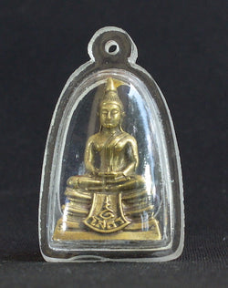 Seated Sothorn Buddha in Brass with Waterproof Case