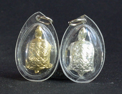 Gold or Silver Turtle Amulets - Waterproof