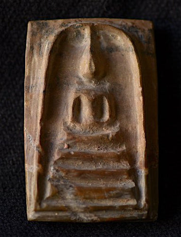 Petrified wood Somdej Toh amulet from Northeast Thailand - Sisaket province.