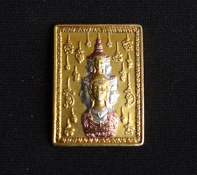 Four Headed Buddha Tricolor Amulet