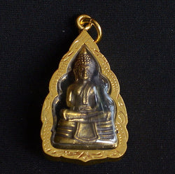 Brass Buddha with Fancy Lotus Case