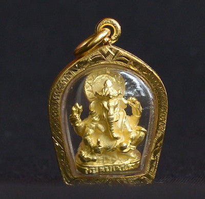 Small Gold Ganesha in Gold Case