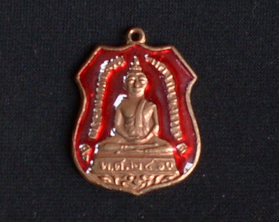 Copper Buddha with Red or Purple Background