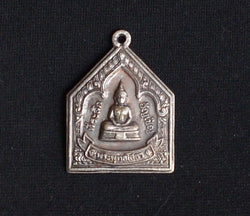 Simple Silver Sothorn Buddha Amulet
