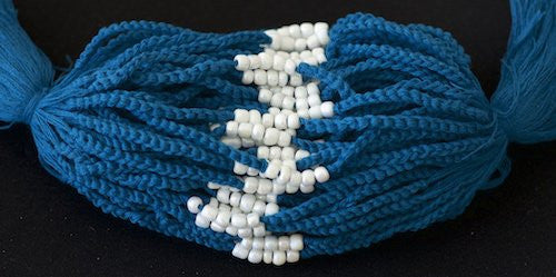 3 Solid Blue Blessed Theravada Buddhist Baby Bracelets