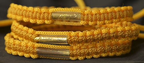 3 Gold and Brown Blessed Theravada Buddhist Bracelets