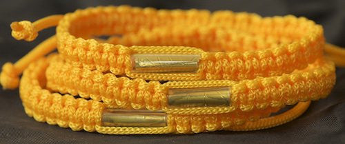 3 Solid Gold Blessed Theravada Buddhist Bracelets