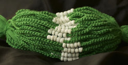 3 Solid Green Blessed Theravada Buddhist Baby Bracelets