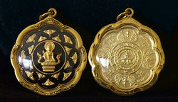 Black and Gold Lotus Shaped Jatukam Ramathep Amulet
