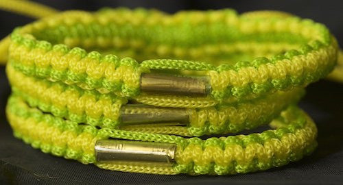3 Lime Green and Yellow Blessed Theravada Buddhist Bracelets