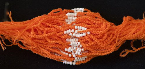 3 Solid Orange Blessed Theravada Buddhist Baby Bracelets