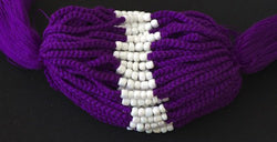 3 Solid Purple Blessed Theravada Buddhist Baby Bracelets