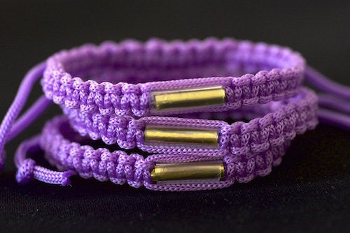 3 Solid Purple Blessed Theravada Buddhist Bracelets