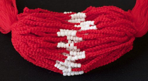 3 Solid Red Blessed Theravada Buddhist Baby Bracelets