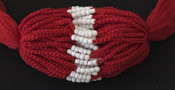 3 Solid Dark Red Blessed Theravada Buddhist Baby Bracelets