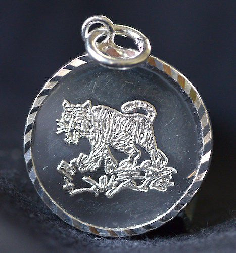 Solid Silver Chinese Zodiac Animal Amulets - Small