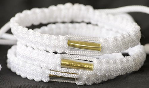 3 Solid White Blessed Theravada Buddhist Bracelets