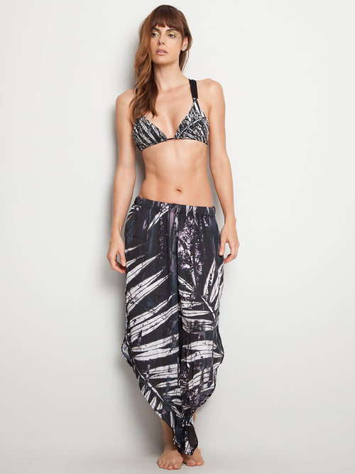 Wing Pant Black Palm Trees