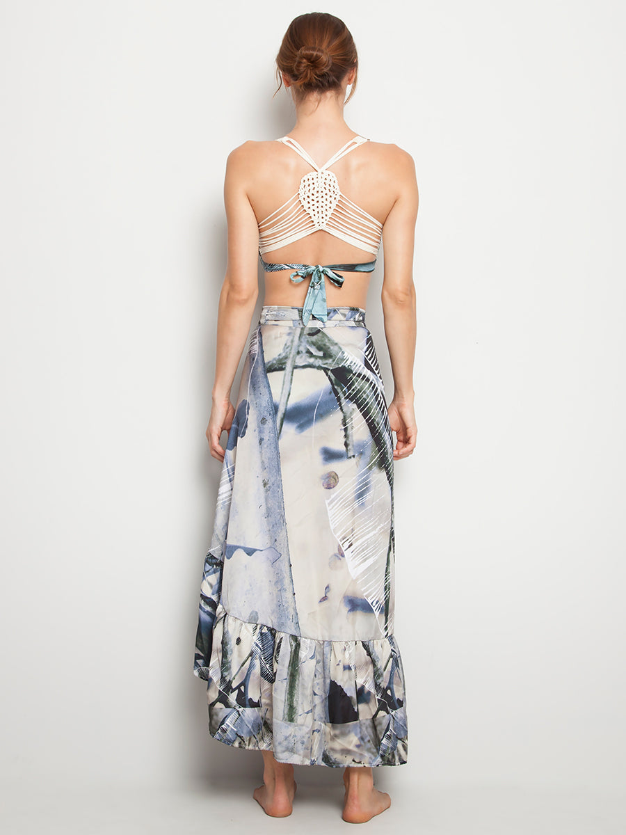 Grey Ceiba Long Skirt