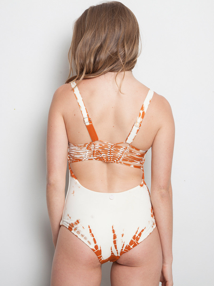 Nude Ivory One Piece Essential with handwoven back