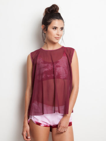 Burgundy Sky Active Blouse