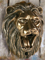 Lion Head Wall Mounted Bottle Opener | Mounting Hardware Included