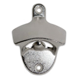 Brushed Silver Wall Mounted Bottle Opener | Mounting Hardware Included