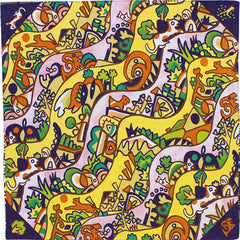 50 Art Brut | Meandering Pattern Navy Blue