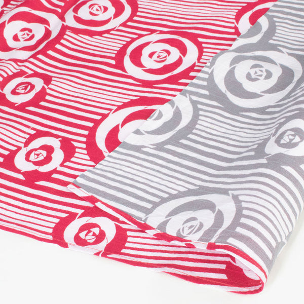104 Isa monyo Reversible | Camellia Red/Gray