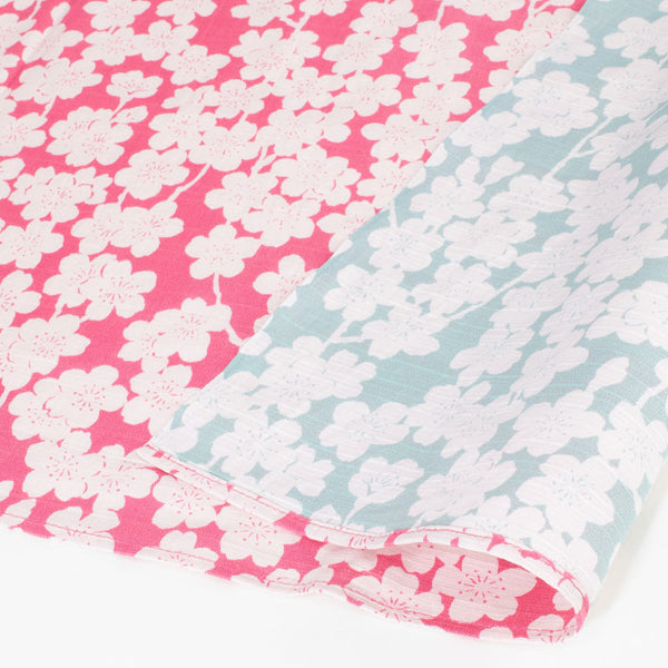 104 Isa monyo Reversible | Cherry Blossoms Cherry Pink/Mint