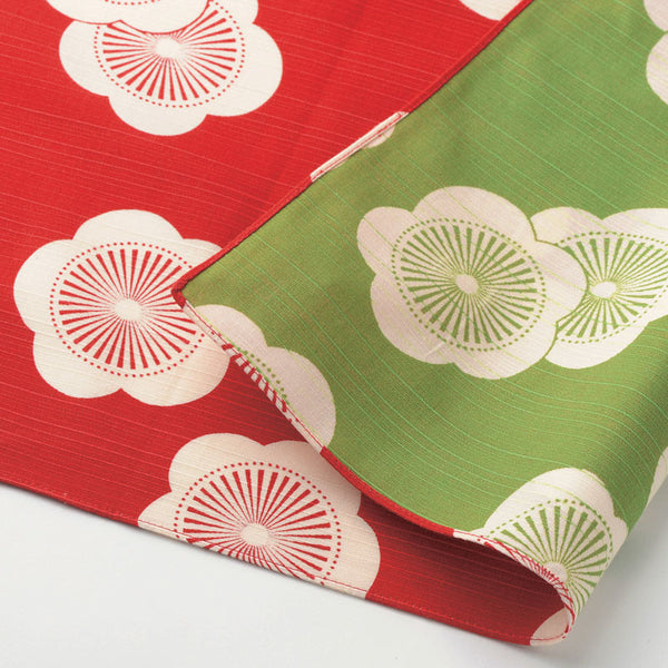 104 Isa monyo Reversible | Japanese Apricot Red/Green