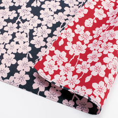 104 Isa monyo Reversible | Weeping Cherry Tree Navy Blue/Red