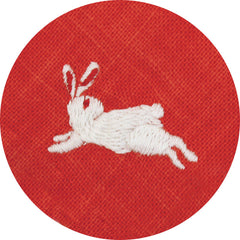 50 Fuku Fuku Embroidery | Camellia & Rabbit Red