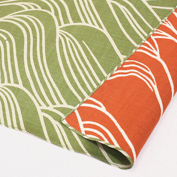 100 KARACHO Reversible | Kourin-Onami Green/Orange