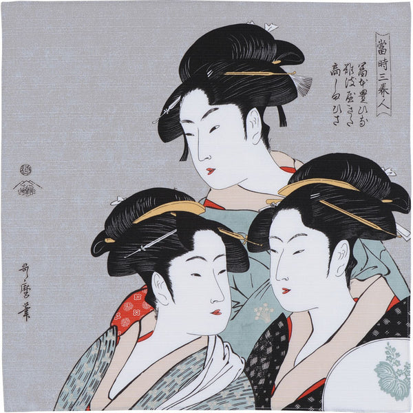 48 Ukiyo-e | Three Beauties Of The Present Day Gray