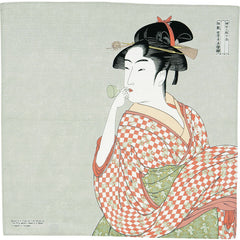 48 Ukiyo-e | A Woman Playing A Poppin Gray