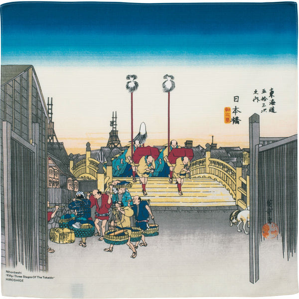 48 Ukiyo-e | Morning View Of Nihonbashi Beige