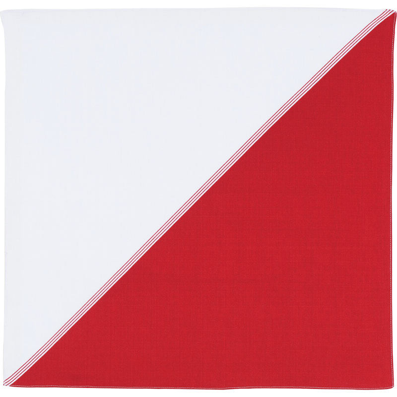 50 Hare tsutsumi | Diagonal Bicolor Red
