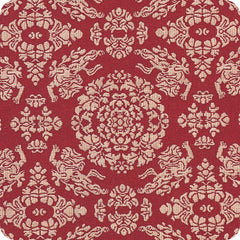 120 Shosoin Cotton Jacquard | Lion Red