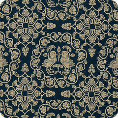 120 Shosoin Cotton Jacquard | Lion Navy Blue