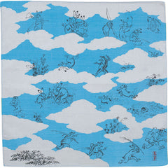48 Choju jinbutsu giga | Composition By Shapes Of Clouds Blue