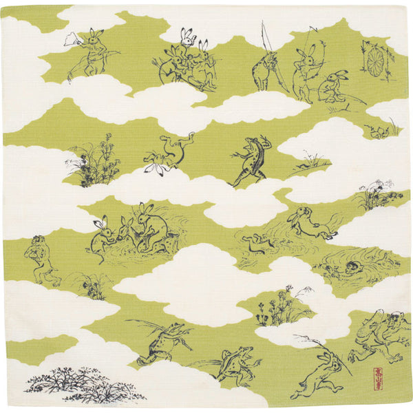 48 Choju jinbutsu giga | Composition By Shapes Of Clouds Green