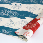 48 Choju jinbutsu giga Reversible | Diagonal picture scroll Blue/Vermilion