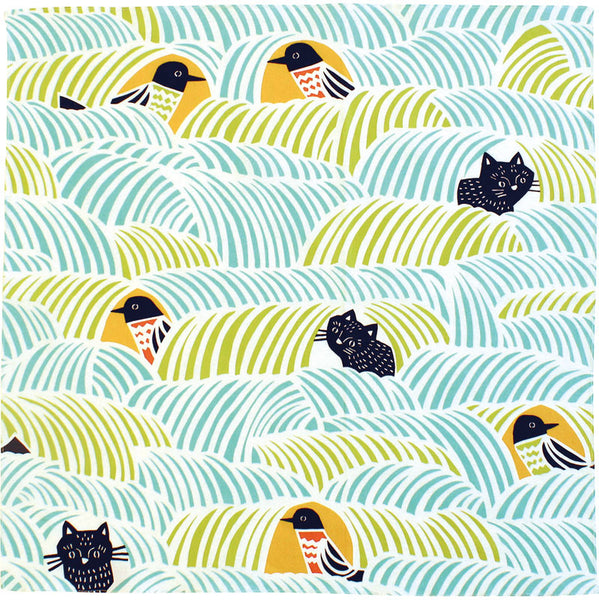 45 Cohare | Cats & Birds Green