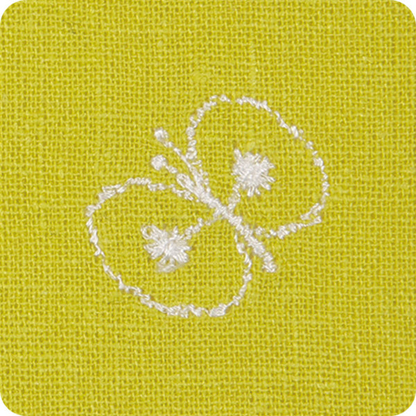 50 mina perhonen Linen Embroidery | Chou Cho Yellow