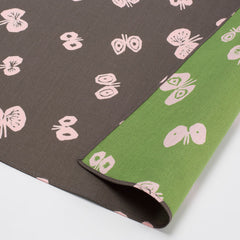 100 mina perhonen Cotton Gauze Reversible | Hana Hane Charcoal Gray/Light Green