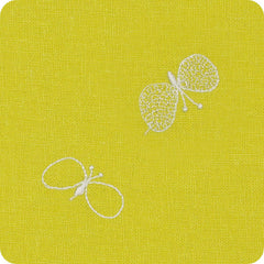100 mina perhonen Linen Embroidery L | Chou Cho Yellow
